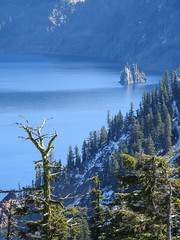 Crater Lake Oct 2019 Phantom Ship Far