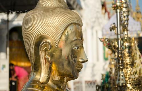 Profile of Golden Buddha Face at Shwedagon Pagoda
