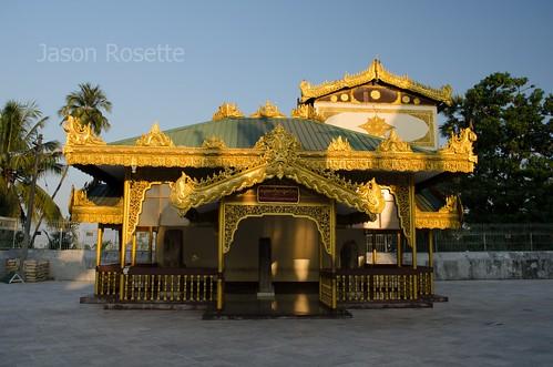 Golden Building at Shwedagon Pagoda Complex, BUrma