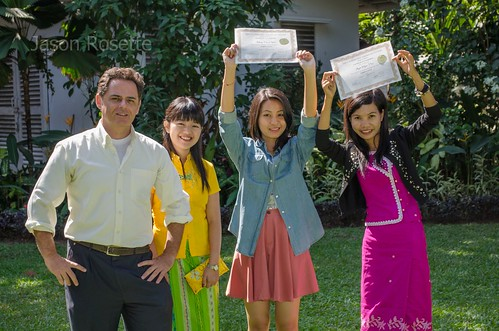 Female Graduates in Burma Hold their Degrees High
