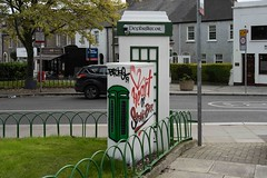 USING OLD PHONE KIOSKS AS DEFIBRILLATOR STATIONS - A VERY GOOD IDEA [AT STONEYBATTER GREEN IN DUBLIN]--1574519
