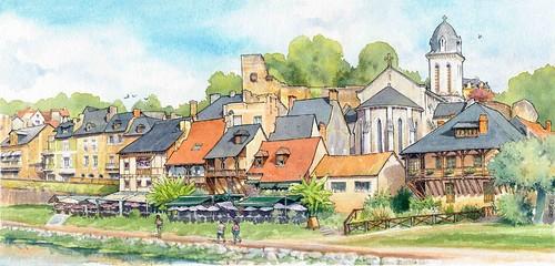 Montignac, quai sur la Vézère