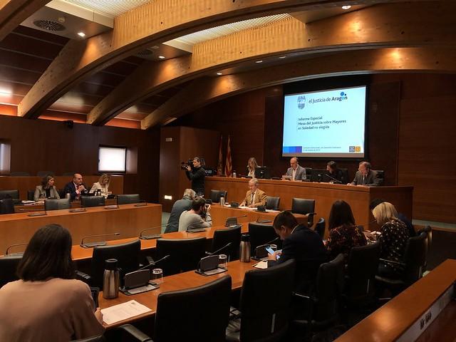 """Presentación ante las Cortes del Informe Especial """"Mesa del Justicia sobre la Soledad no Elegida de Nuestros Mayores"""""""