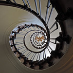 Spiral Staircase Jules Verne Museum by Elaine Robinson