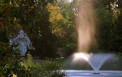 "Cincinnati - Spring Grove Cemetery & Arboretum ""Morning Light Burning On Ceder Lake Fountain"""