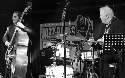 Pierre Boussaguet (cb) Sebastian de Kroom (ds) Sarah MacKenzie Septet, Gouvy Jazz Festival, 03/08/2019, Sterpigny-Gouvy, Belgium