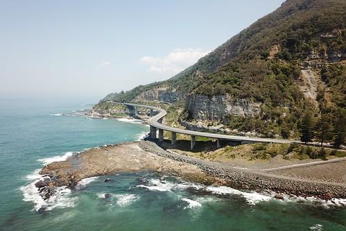 Sea Cliff Bridge from the sky