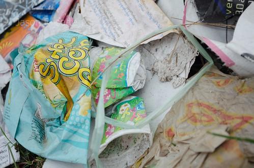 Detail of Trash Left Behind by Gospel Music festival, Rangoon