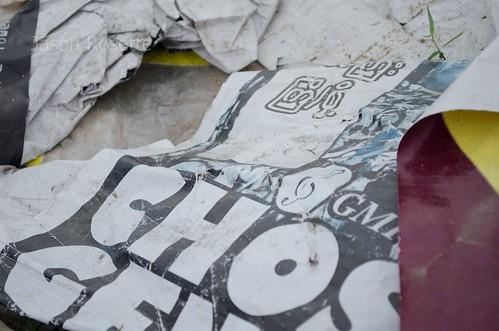 Detail of Trash Left Behind by Goszpel Music festival, Rangoon Burma (#2)