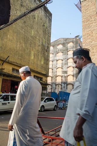 Muslim Men Approach Sunny Corner, Rangon, Burma