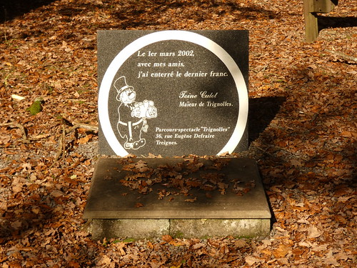 La tombe du dernier franc belge