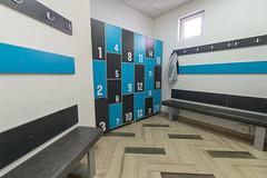Interior of a locker changing room