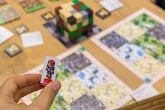 Kleine Steckfigur für Minecraft mit Motiv für den Spielespaß