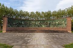 Tiegelgussdenkmal in Essen im Herz der Krupp Stadt Front Ansicht