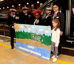 Royal British Legion 2019 Poppy launch Bristol Temple Meads station with Sqn Ldr Jonny Johnstone MBE DFM image no 23