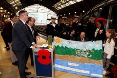 Royal British Legion 2019 Poppy launch Bristol Temple Meads station with Sqn Ldr Jonny Johnstone MBE DFM image no 18