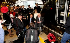 Royal British Legion 2019 Poppy launch Bristol Temple Meads station with Sqn Ldr Jonny Johnstone MBE DFM image no 8