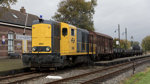 Stoomtram Hoorn-Medemblik NS 2454 Wognum-Nibbixwoud 25 oktober 2019
