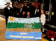 Royal British Legion 2019 Poppy launch Bristol Temple Meads station with Sqn Ldr Jonny Johnstone MBE DFM image no 17