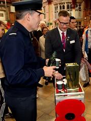 Royal British Legion 2019 Poppy launch Bristol Temple Meads station with Sqn Ldr Jonny Johnstone MBE DFM image no 19