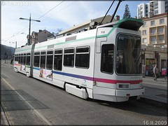 Alsthom TFS (Tramway Français Standard) – TPAS (Transports Publics de l'Agglomération Stéphanoise) (Veolia Transport) / STAS (Société de Transports de l'Agglomération Stéphanoise) n°910 - Photo of La Tour-en-Jarez