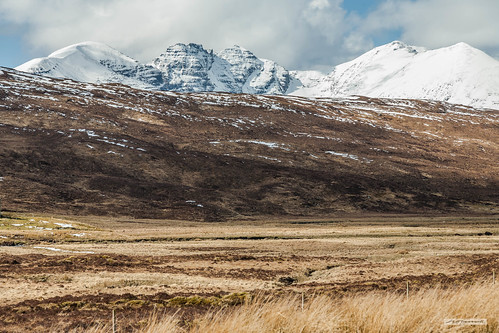 Moorland by Destitution Road, with view to mighty An Teallach.