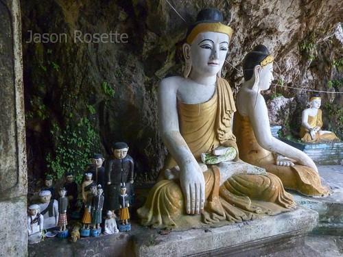 Buddha Statue with Local Deities, Hpa An, Burma
