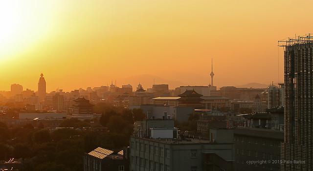 019Sep 16: Beijing Sunset Roofs