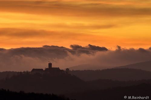 Sonnenaufgang über der Wartburg
