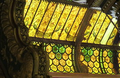 Glass painting on roof