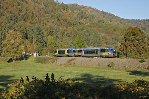 UM2 X73906-Alsace Saarland-X73659-Champagne Ardennes-TER 832809 Kruth-Thann St Jacques à Oderen