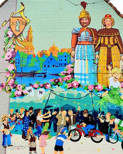 Graffiti kunst van Caz'n en illustrator Wim Finck te Wetteren 2019-09-23