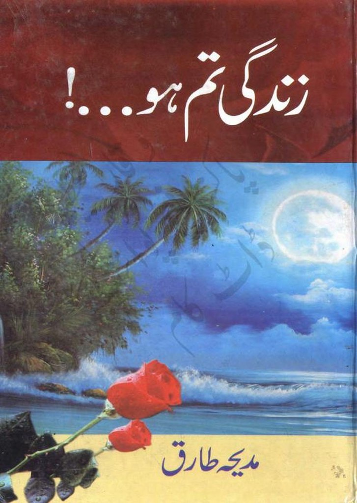 Zindagi Tum Ho is a very well written complex script novel by Madiha Tariq which depicts normal emotions and behaviour of human like love hate greed power and fear , Madiha Tariq is a very famous and popular specialy among female readers