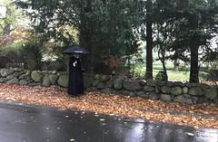 Presten med paraply