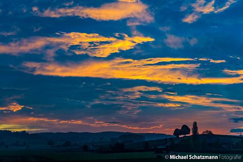Tagesanbruch auf der Fahrt nach Winterthur