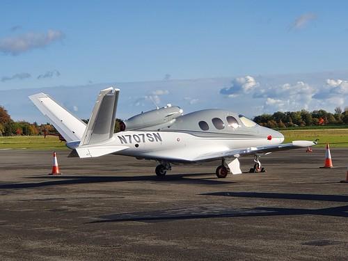 Cirrus Design Corporation SF50 Vision Jet N707SN seen at Dublin Weston EIWT