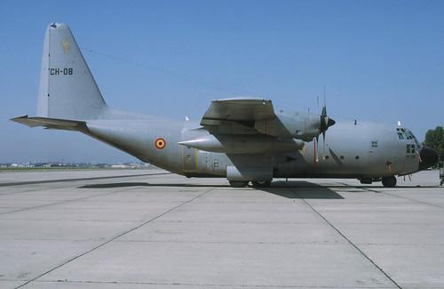 CH-08 - C-130H BelgianAF unmarked 970000 Melsbroek