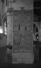 Tomb slab of an unknown abbot of Bec Abbey