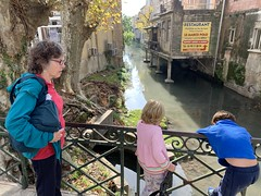 Ruth and the twins come across the river that goes through Orange