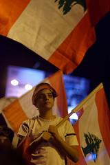 la Révolution du 17 octobre au Liban, vue du 27 octobre à Jal El Dib, près de Beyrouth (lebanese revolution, a young protester, near beirut)
