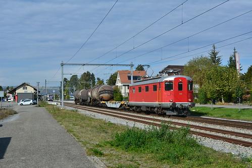 VEhE Re 410 016, SRT trein 69390 RB Limmattal - Rekingen AG. Bad Zurzach 17 oktober 2019