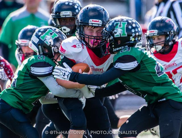 East Central Trojans v Harrison Wildcats 4th grade football