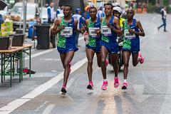 Aweke, Fikre, Dawit and Martin leading the Frankfurt Marathon: all from Ethiopia