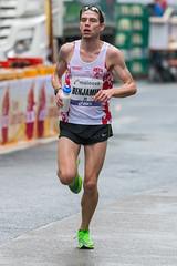 Benjamin Frankfurt Marathon - erschöpfter Blick eines Athleten