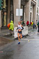 Female athlete Jennifer Spink at Frankfurt Marathon