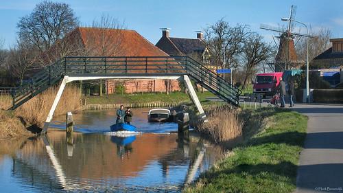 Groningen: Middelstum, Boterdiep met 't Balkje
