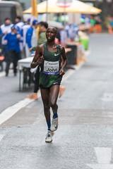 John Kipkosgei Korir at Frankfurt Marathon in the rain