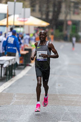 The Kenyan Mark in the rain of Frankfurt Marathon