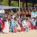 Groupe d'enfants en visite au village traditionnel Namsangol Hanok (Séoul)
