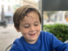 Sawyer enjoys lunch in Orange, France